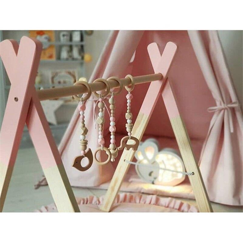 2019 Nieuw Baby Houten Rammelaars Fotografie Props Kawaii Stijl Baby Bells Voor Baby Meisjes Jongens Kamers Decor Home Decorations
