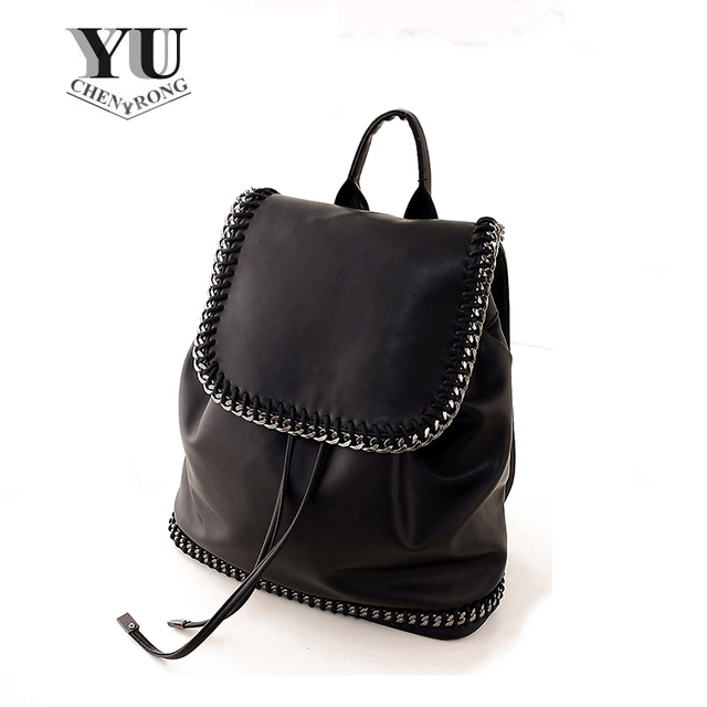 be57bf1f14e Fashion New 2015 High Quality PU Leather Backpack Gold Silver   Black Women  Casual Travel Bag