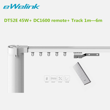 Ewelink Dooya Electric Curtain System Curtain Motor DT52E 45w Remote Control Motorized Aluminium Curtain Rail Tracks