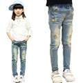 Trousers for Girls Denim Pants Super Quality Jeans Pants for Kids New Girls Trousers Autumn & Spring Children Cartoon Pants 2-12