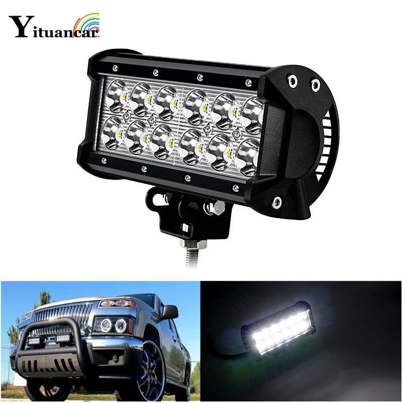 Yituancar 1 db 36W 7 hüvelykes LED-es autó munkavilágító sáv - Autó világítás