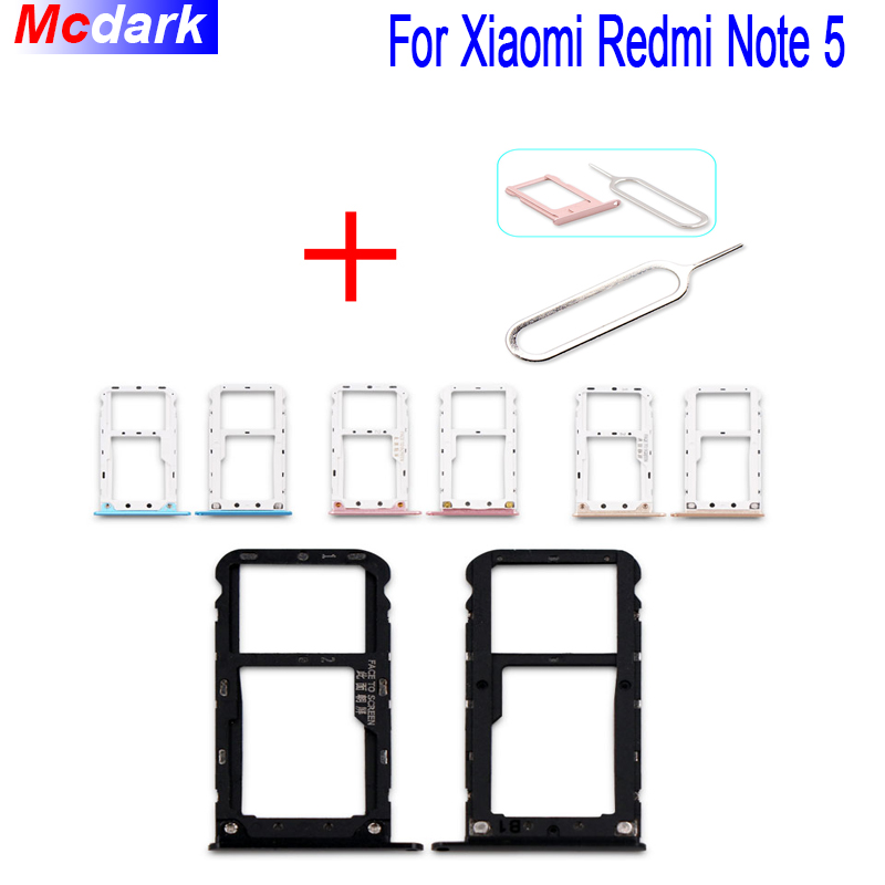 For Xiaomi Redmi Note 5 Sim Card Holder Tray Card Slot SD Card Slot Holder Adapter Replacement With Take Sim Card Eject Tool