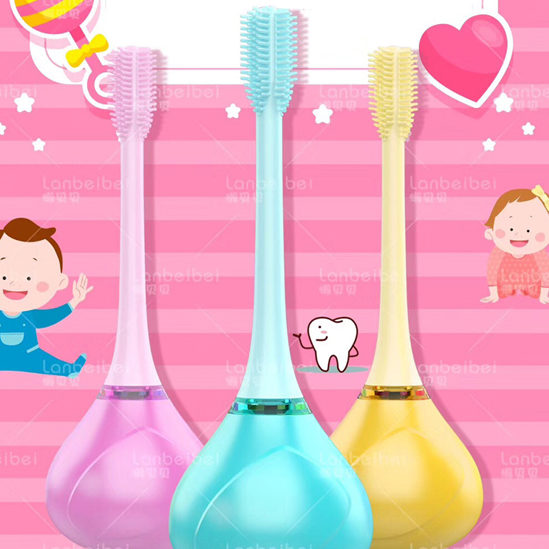 Baby Girls Boys Soft Clean Teeth Special Antibacterial Baby Toothbrush Kids Teeth Cleaning Toothbrush with Toothbrush Holder image