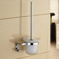 Wall Mount Chrome Polished 304 Stainless Steel Toilet Brush Holder