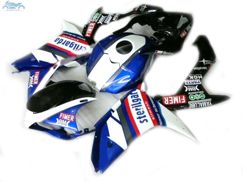 Injection fairing kit fit for YAMAHA <font><b>2007</b></font> 2008 YZFR1 YZF <font><b>R1</b></font> 07 08 white blue black motorcycle fairings body kits YB15 image