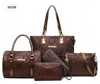 Women Leather Handbag Messenger Composite Bags 5 Sets Ladies Designer Handbags Famous Brands Fashion Bag For