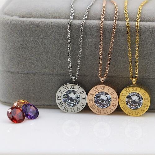 Gold color stainless steel can change color crystal for Fashion jewelry that won t change color