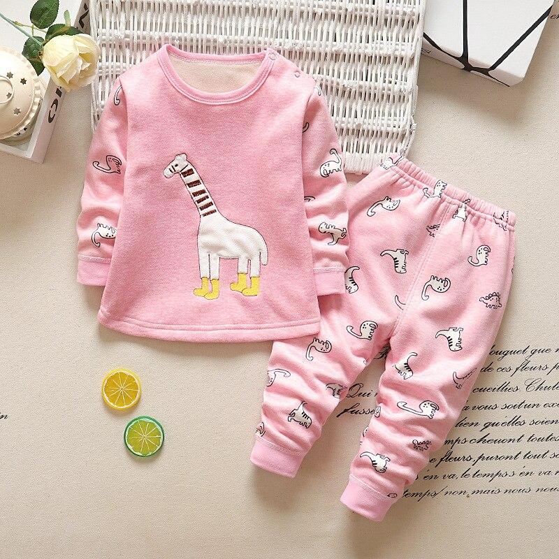 Bibicola Herbst Pyjamas Kinder Mädchen Baumwolle Fleece Kleidung Kinder Mädchen Casual Langarm Nachtwäsche Marke Mädchen Nachtwäsche