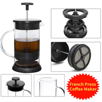 8 Cups 34 Oz Double Layers Stainless Steel Plunger 1L French Press Espresso Percolator Stove Top
