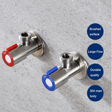 JIKU Angle Valves SUS304 stainless steel brushed finish filling valve Bathroom Accessories Angle Valve for Toilet Sink