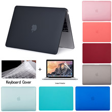 Etui na laptopa dla Apple Macbook Air 13 A1932 Pro Retina 11 12 13 13.3 15 touch bar dla Macbook Air 13 A1396 A1466 + osłona klawiatury(China)