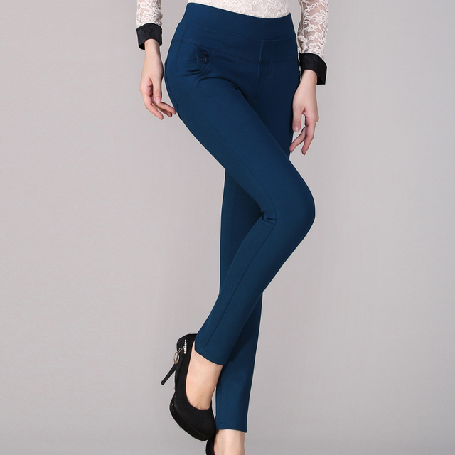 Новый прибыл зима Леггинсы женщина Тонкий Моды Случайные Эластичность Высокая талия Карандаш все соответствующие брюки Сплошной цвет Одежды