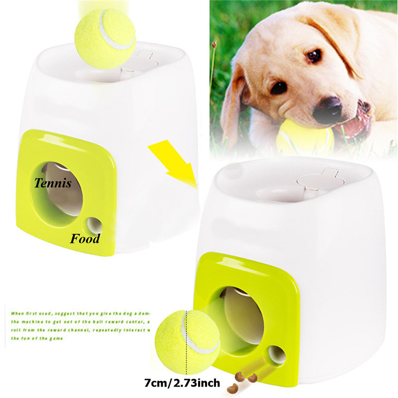 Automatic Interactive Ball Tennis Launcher Dog Pet Toys Automatic Throwing Mmachine Pet Ball Throw Device Emission With BallAutomatic Interactive Ball Tennis Launcher Dog Pet Toys Automatic Throwing Mmachine Pet Ball Throw Device Emission With Ball