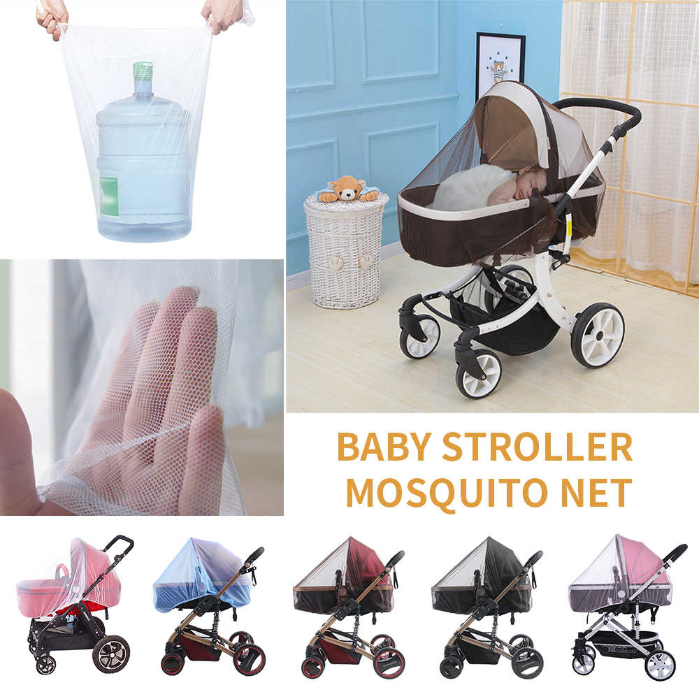 Urijk 150*180cm Bigger Newborn Mosquito Insect Net Toddler Infant Baby Stroller Crip Netting Pushchair Safe Mesh Buggy White