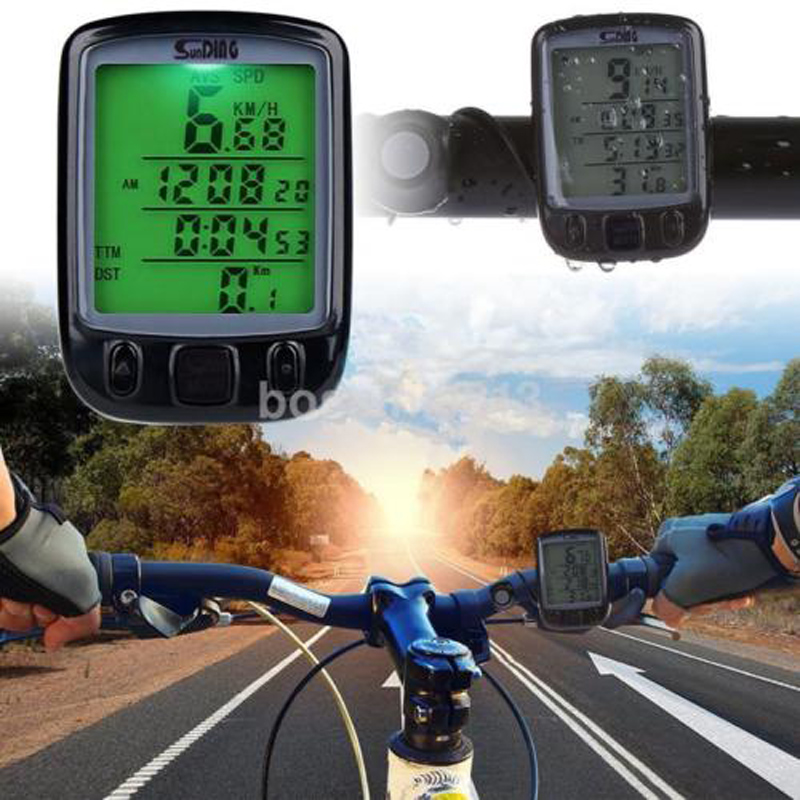 SunDing SD 563B Outdoor Water Resistant Cycling Odometer Speedometer Backlight