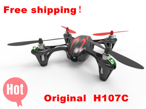 100% New Brand Hubsan X4 H107C 2.4G 4CH RC Quadcopter With 30W Camera RTF Mini RC Helicopter Quadcopter Quad Copter 7 4v 2700mah 10c battery 1 in 3 cable usb charger set for hubsan h501s h501c x4 rc quadcopter