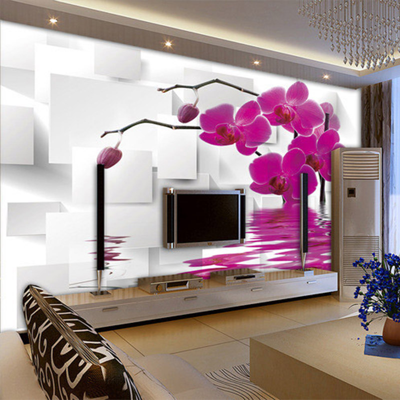 Custom Any Size Mural 3D Stereo Square Flowers Photo Wallpaper Living Room Bedroom Modern Abstract Art Wallpaper Papel De Parede custom any size 3d mural wallpaper european modern minimalist bedroom living room tv backdrop abstract trees 3d photo wallpaper