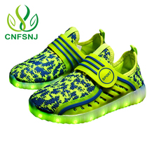 CNFSNJ New luminous shoes children LED glow shoe boys & girls fashion USB rechargeable light led shoes for kids led shoes 26-37