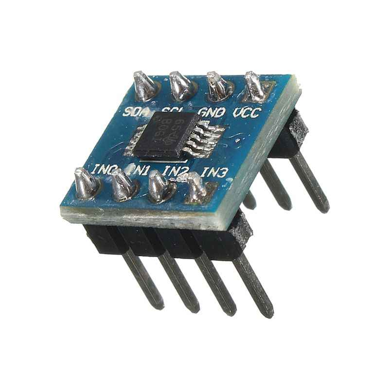 مصغرة ADS1115 وحدة 4 قناة 16 بت I2C ADC برو مكاسب مكبر للصوت لاردوينو الأزرق