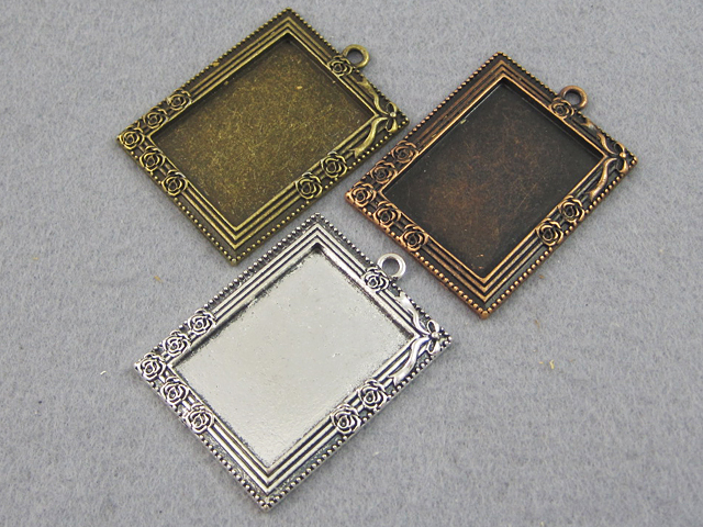 25x35mm victorian rectangle tray setting antique style pendant 25x35mm victorian rectangle tray setting antique style pendant setting cameo setting photo frame pendant aloadofball Choice Image