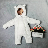 30 degrees New born Baby Russian Winter Jumpsuit Snowsuit Boy Warm Romper White Duck Down Girl Clothes Infant Overcoat Clothing