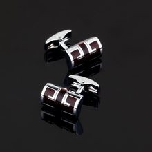 XK429 High high quality French crimson ear Cufflinks different males Cufflinks Wedding shirts equipment glazed craft type