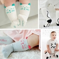 Baby Boy Girls Lovely Cartoon Cotton Breathable Sockings With Cat ears Kids Infant Spring Autumn Knee Length Anti Slip Socks