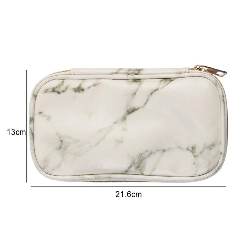 Marble Pattern Organizer Women Fashion Case High Cosmetic Bag Makeup Brush Storage Bags Zipper Handbag Purse For Girls