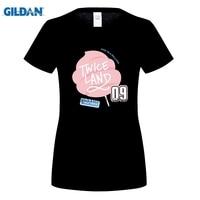 GILDAN vrouwen fashion brand t-shirt Koreaanse TWEEMAAL Land Twiceland Seoul Album Concert EEN TWEEMAAL IN Een MILJOEN Katoenen T shirt