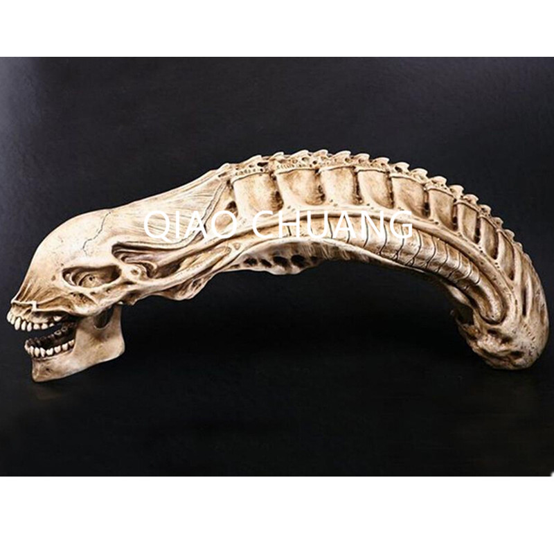 Prédateur VS Alien Crâne Squelette Terreur Jouet Predalien Le Crâne Modèle Colophane Artisanat Halloween Cadeau G752