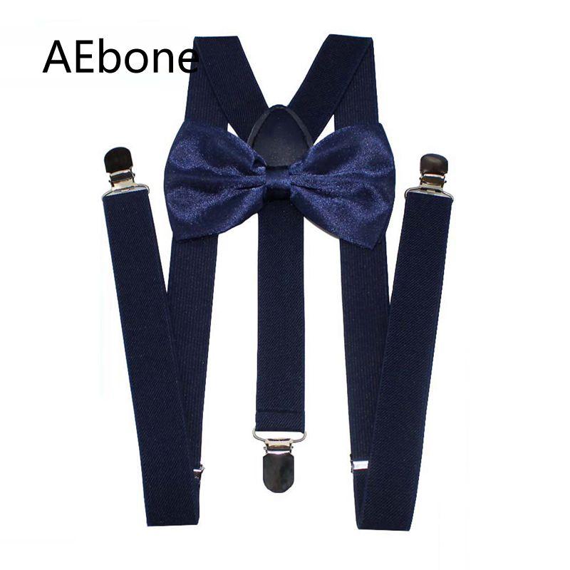 AEbone Navy Blue Bow Tie Suspenders for Men Big and Tall 2.5cm Wide Mens Suspenders 120cm Burgundy Suspensores Para Hombre Sus60