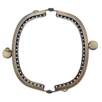 9.5cm Metal Purse Frame Handle for Clutch Bag Handbag Accessories Making Kiss Clasp Lock Antique Bronze Tone Bags Hardware