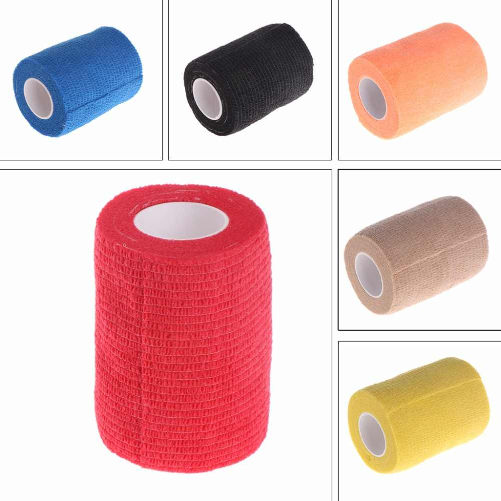 Pets Cohesive Bandage Elastic Non Woven Natural Latex Self Adhesive For Dog Puppy Cat Athletes Pet Supplies Color Random C42