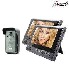 2 Indoor Monitors Wireless Video Door Phone Doorbell With Night Vision Security Camera 7″ Display 0.3MP Camera For Door Access