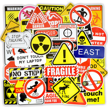 50 PCS Warning Stickers Danger Banning Signs Reminder Waterproof Decal Sticker to DIY Laptop Motorcycle Luggage Snowboard Car