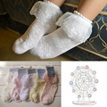 3 Colors Cotton scholl meias baby girls kids boots Children football socks lace Solid lace Spring and Autumn calcetines