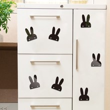 Nordic style ins acrylic Bunny wall sticker 3D Childrens room home decoration hotel KTV bar cinema Wall Sticker