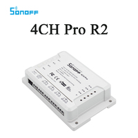 Sonoff 4CH Pro R2 4 Gang WiFi RF Smart ON OFF Remote Timer Switch Controller Inching