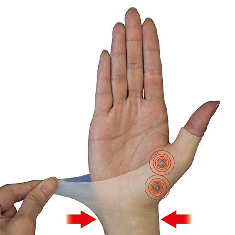 1PC Magnetic Therapy Wrist Hand Thumb Support Gloves Silicone Gel Arthritis Pressure Corrector Massage Pain Relief Gloves