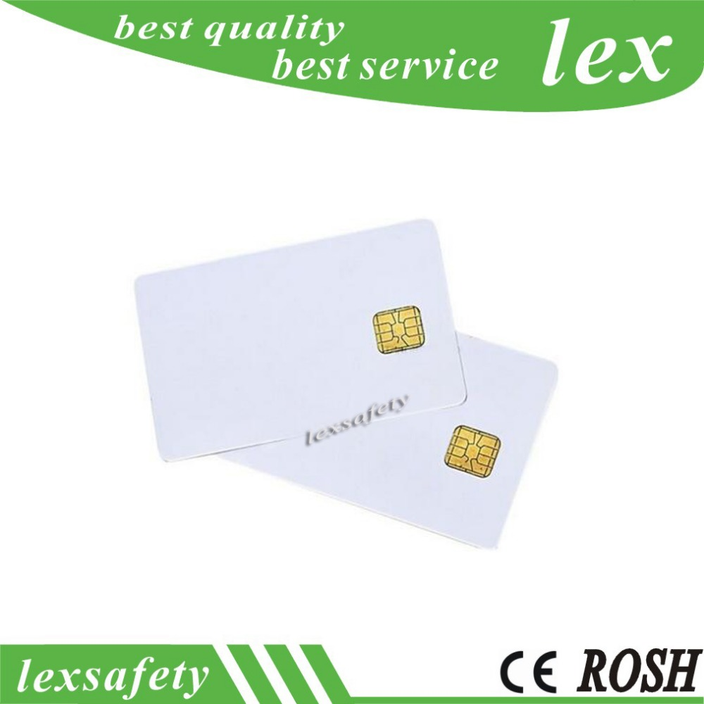 100pcs lot ISO 7816 White PVC Card with FM 4442 Chip Contact IC Card Blank Contact