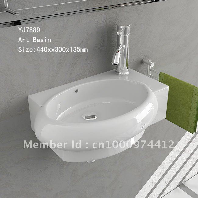 7889 Bathroom Ceramic Mini And Save Spaces Wall Hung Wash Hand Sink Basin  Lavatory Lavabo ...