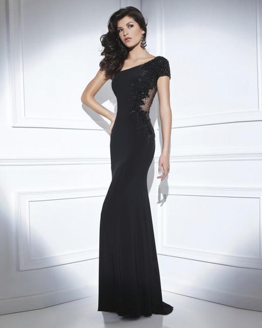 ea33da61af Vestido De Festa Longo Vestido de Noche de La Sirena Negro Largo Atractivo  Vestido de noche