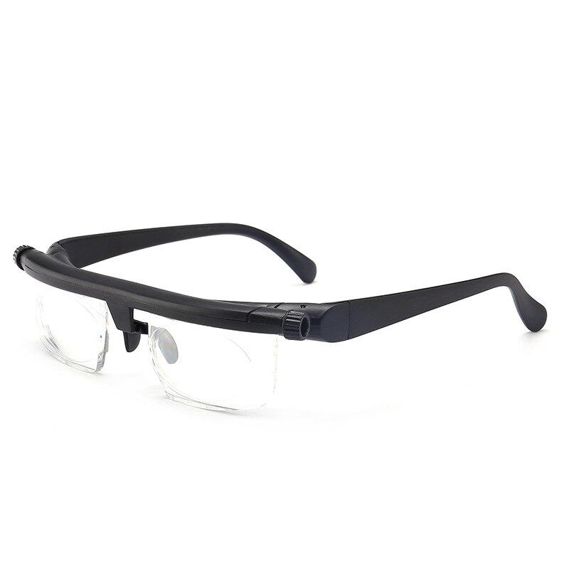 Visão foco óculos de leitura ajustável miopia óculos de olho-6d a + 3d correção de lente variável binocular lupa porta oculos