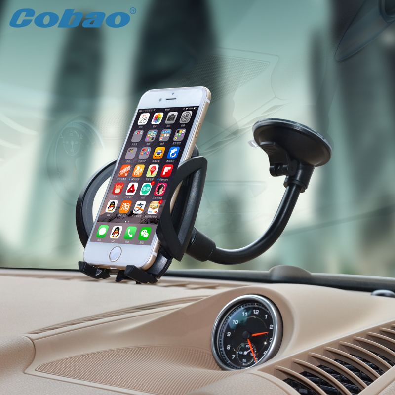 Universal mobile phone holder stand car windshield mount