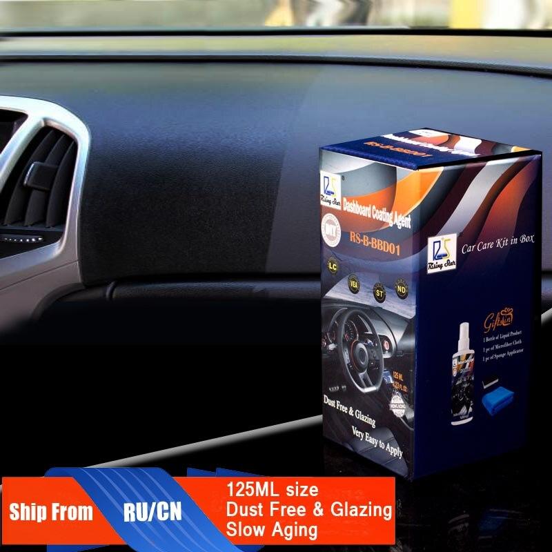 Aufgehender Stern RS-B-BBD01 Vinyl und Trim Verglasung Anti-Uv Schützen Vor Verblassen und Rissbildung Armaturenbrett Beschichtungsmittel 125 ml Kit