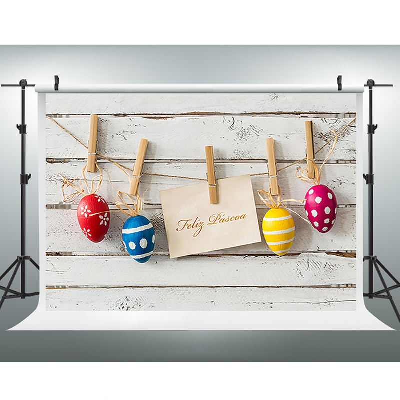 Easter Photography Background Hanging Eggs Photo Backdrops Vinyl White Board Wall Easter Background for Photographic Studio easter day eggs in straw photography backdrops dry branches fotografia photo background for photo studio photography background