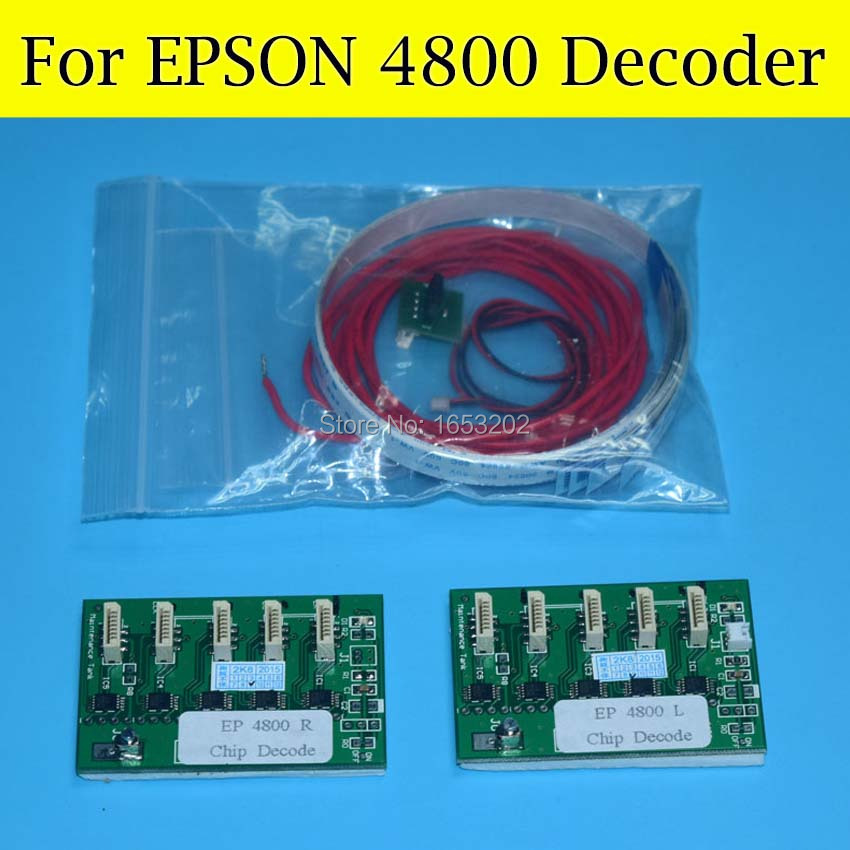 Best Chip Decoder Card For Epson Stylus PRO 4800 Wide Format Printer 4800 T5651-T5659 Ink Cartridge