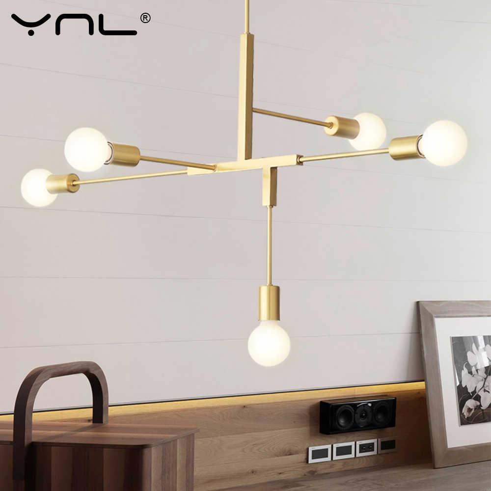 LED ペンダントのシャンデリア寝室ホーム産業ライトシャンデリア現代ロフト天井シャンデリアランプ照明