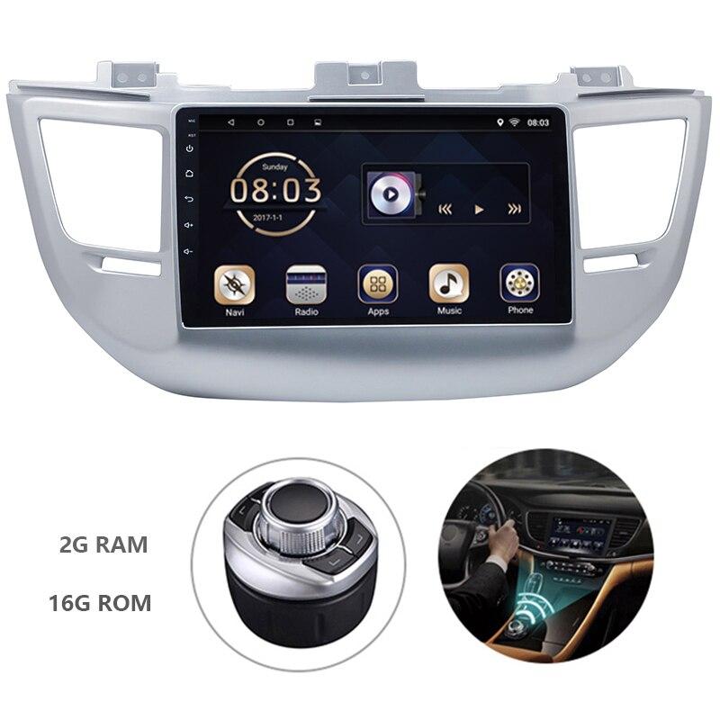 Autoradio lecteur multimédia DVD de voiture Android 7.1 1din pour Hyundai Tucson 2015-2017 système de Navigation GPS avec Carplay