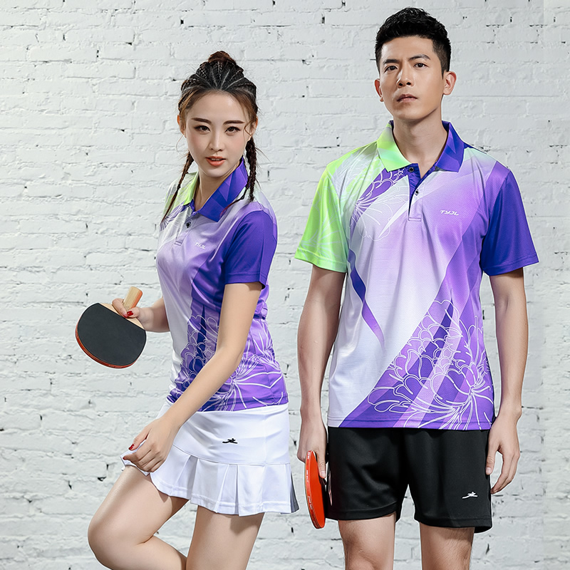 T-Shirts Table-Tennis-Team Custom Gray Match Outdoor Quick-Dry Breathable Men Fashion